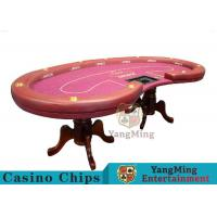 High Density Texas Holdem Poker Table , Casino Style Poker Table With Soft Touch