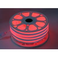 China Red 110V Flex LED Neon Tube Light 14mm * 26mm Size PVC Shell Material on sale