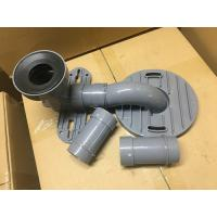 Quality Gray PVC Toilet Siphon Tube , Toilet Drain Fittings Washroom Appliance Connector for sale
