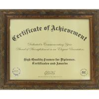 "Buy cheap 11""X 8 1/2"" Opening Wooden Document Frame , Antique Golden Wood Certificate Frames from wholesalers"