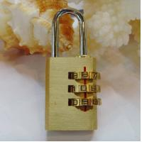 Wholesale 3 Digits Brass Combination Padlock Brass Lock CR-04E from china suppliers