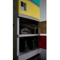 Corrosion Proof ABS Plastic Lockers Red Door 5 Tier Lockers With Clover Keyless for sale