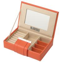 Buy cheap Personilized Orange Morden Design Paper Packaging Jewellery Boxes with Magnet, Mirror from wholesalers