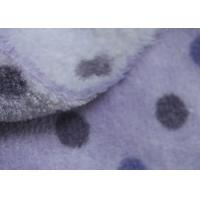 150D Purple Dot Print Soft Berber Fleece Fabric For Adult / Children Cloth Lining Manufactures