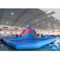 Buy cheap Sea World Theme Water Park Inflatable , Inflatable Water Park with Pool and Slide from wholesalers