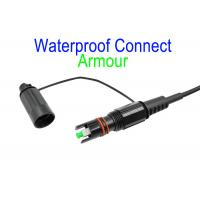 Buy cheap Black Fiber Optical Patch Cord LSZH G657A2 Corning Armour IP68 SC/APC 5.0 / 3.0 from wholesalers