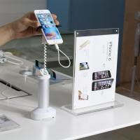 Buy cheap COMER anti-theft grip locking alarm security desk display stand for cellphone charging stands from wholesalers