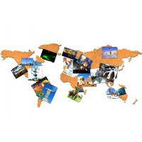 Buy cheap New Style Factory Wholesale 16 Pieces Adhesive Corkboard World Map for a Gift from wholesalers