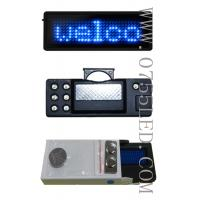 Buy cheap LED programmable badge name tags Price display Signs100% led manufacturer sale Blue signs pixel 7*29 80*30*5mm from wholesalers
