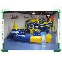 Buy cheap 0.9mm PVC Tarpaulin Inflatable Paintball Bunkers 40pcs Blue and Yellow from wholesalers