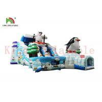Buy cheap Custom Ice And Snow World Inflatable Dry Slide With Bouncy Course Waterproof from wholesalers