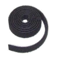Buy cheap Black Back To Back Hook And Loop / Lightweight Hook And Loop Velcro Cable Ties from wholesalers