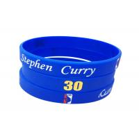 Wholesale Filled Color / Size Custom Silicone Bracelets , Debossed Silicone Bracelets from china suppliers