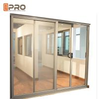 Buy cheap Aluminum Tempered Glass Entry Sliding Door Commercial Customized Size from wholesalers