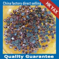 Buy cheap 10 Sizes Super Shiny Flat Back Glass Beads China Clear Glass Beads Garment Accessories from wholesalers