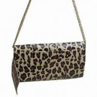 Wholesale Synthetic Leather Shoulder Bag with Metal Chain Handles, Decorated with Flower Design from china suppliers