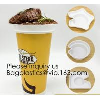 Buy cheap Flower Shaped 330ml PP Plastic Snack Plate With Cup Holder,Disposable PS Plastic Cup Top Snack Tray,Snack Cup With Straw from wholesalers