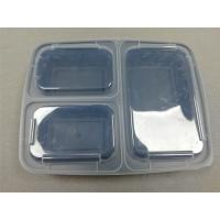 Buy cheap Plastic type pp fast food box 3-compartment takeaway plastic food container from wholesalers