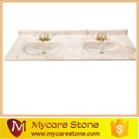 Buy cheap wholesale cheap price double sink cultured marble bathroom vanity tops high qulity for sale from wholesalers