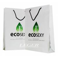 Buy cheap White Printed Shopping Bags With Handles  , Promotional Paper Grocery Bags from wholesalers