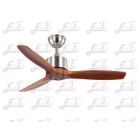Buy cheap East Fan 42 inch three nature wood blades brushed nickel modern ceiling Fans without light from wholesalers