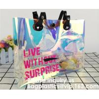 Buy cheap Promotional Shiny PVC Tote Bag, Women Gender and Casual Tote Shape large capacity clear PVC Beach Bag, Bagease, Bagplast from wholesalers