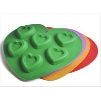 Buy cheap FDA & LFGB Non-Stick Heart Shaped Silicone Kitchenware , Silicone Bakeware from wholesalers