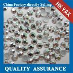 Buy cheap High quality hot fix octagon, korean octagon aluminium hot fix rhinestuds& iron on stud from wholesalers