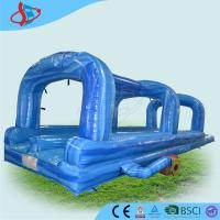 Buy cheap Durability Blue Inflatable Water Slides 0.55mm PVC Tarpaulin from wholesalers