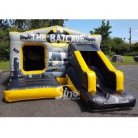 Buy cheap 18x12 kids inflatable Batcave disco bouncy castle with slide from China manufacturer from wholesalers