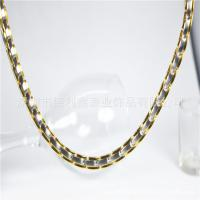 China Stainless steel necklace Gold Radiation resisting fatigue collar Imported Healthcare Titanium steel Necklace on sale