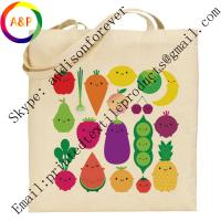 Buy cheap A&P fruits print cotton canvas tote bag for shopping from wholesalers