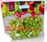 Buy cheap fresh fruit plastic bag for packaging cherry, Bag For Fresh Fruit Sweet Cherry, Coin or U shape grape bag from wholesalers