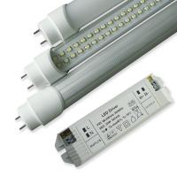 Buy cheap SMD3528 8W 50000h 600mm Dimmable Led Light Tube With External DC Drivers, Rotating End Cap from wholesalers