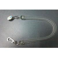 Buy cheap Pure clear long spiral coil tool tether chain w/executive and delux  swivel&round sticker from wholesalers