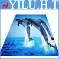 Buy cheap dolphin animal pattern polar fish printed fleece fabric blankets with animal print from wholesalers