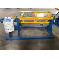 Wholesale 1m Width Electric Sheet Metal Decoiler Blue Yellow Color 450 - 600mm Inner Diameter from china suppliers