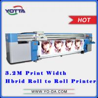 Buy cheap UV Hybrid printer roll to roll non-woven fabric printer, all in one hybrid printer for car sticker, fibre cloth, etc from wholesalers