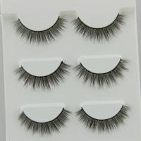 Buy cheap 3D Korea Natural False Eyelash Synthetic Hair False Eyelash 100% Hand Made from wholesalers