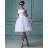 High Breathable Bridesmaids Wedding Dresses, Strapless Lace A-line Dress For Wedding Party Manufactures