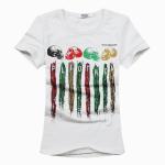 Buy cheap Custom skull print shirt,short sleeve colorful painting shirt,hi pop style shirt from wholesalers
