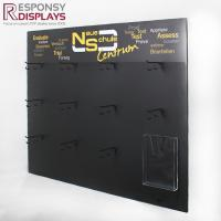 Buy cheap 1000*131*800(mm)  Black Metal Wall Hanging Socks Display Shelf with Hooks from wholesalers