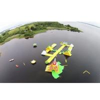 Buy cheap Awesome Super Large Bay Inflatable Water Park , Yellow Water Sports For Ocean from wholesalers