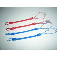 Buy cheap Custom Red/Blue Mini Short Pen Spiral Tethers w/Different Nylon Strap on Both Ends from wholesalers