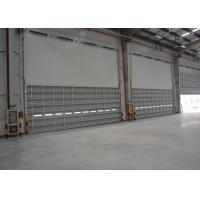 Buy cheap Industrial wind resistance overhead sectional doors for aluminum single sheet panel electric running from wholesalers