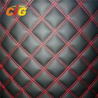China 100% Polyester Sponge PVC Leather for Cat Mat Car Seat Cover 150CM Width on sale