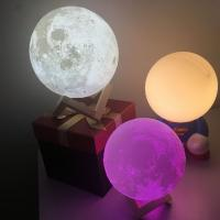 Buy cheap Blue tooth 3D Moon Lamp USB LED Night Light Moonlight Xmas Gift Touch Sensor Color Changing from wholesalers