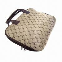 Buy cheap Fashionable computer handbag with zipper closed and two pull made of jacquard polyester from wholesalers