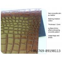 Buy cheap crocodile pu leather from wholesalers