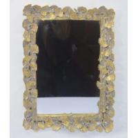 Wholesale Handcrafted Vintage Style Large Gold Framed Wall Mirrors With Ginkgo Leaf Border from china suppliers